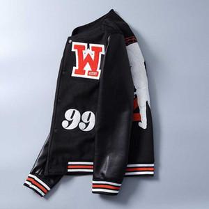 Criss-Cross School jaquetas Colégio Varsity carta Jacket Men mangas de couro casaco de lã Baseball Letterman Preto Cor de lã costura
