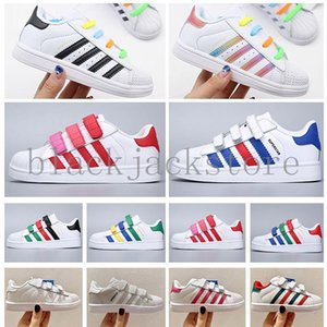 2020 Top Quality Children Superstar shoes White Gold baby kids Superstars Sneakers Originals Super Star girls boys Sports Casual Shoes V5AB6