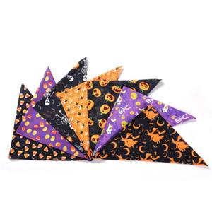 Хэллоуин Pet Molful Scarf Dog монослоя треугольник шарф кошка PET печатный фестиваль декор шарф одежда для собак Хэллоуин украшения DHB2262