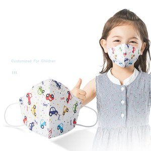 6 designs kids face masks clean hygienic tasteless meltblown cloth breathable dust-proof cartoon printing disposable masks HWC648