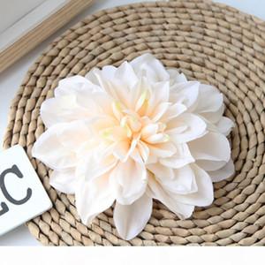 Fiore artificiale Dahlia 15 centimetri capolini all'ingrosso per la decorazione domestica Wedding Accessori per capelli da sposa Mestieri