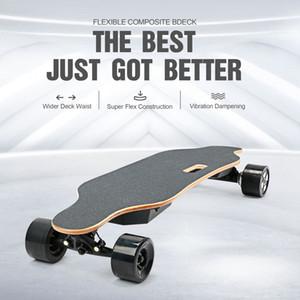 US Stock double moteur électrique Bluetooth Skateboard Télécommande Planant Scooter 90 MM intelligent Roues étanche permanent du skate-board