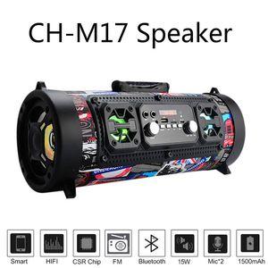 Altavoz de alta fidelidad de la música portátiles Columna altavoz inalámbrico Bluetooth Radio FM Mover KTV barra 3D Sound System Mp4 Palyer subwoofer al aire libre CH M17