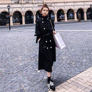 Women's fashion jacket windbreaker women's mid-length style 2020 autumn new loose little British style long designer jacket women
