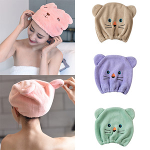 2020 NEW Good Hygroscopicity And Breathability Microfiber Hair Turban Quickly Dry Hair Hat Wrapped Towel Cap Towel