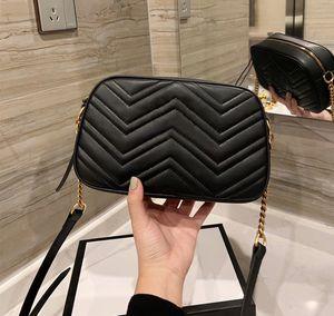 Los mejores lujos de alta calidad G Bolsas de diseñadores de moda Moda para mujer Crossbody Bolsa Bolsas de hombro Carta Bolso de las señoras Monedero 2021 Cadenas de nuevas cadenas Bolsa de cámara