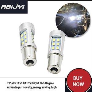 2pcs 21SMD 1156 BA15S Bright 360-Degree led Bulbs p21w R5W Light LED Chips Car Brake Tail Light Reverse Signal Backup Bulbs1