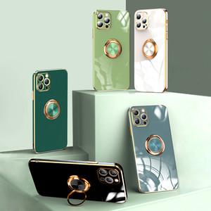 Bague de peluche de luxe pour iPhone 12 11 Pro Max XS MAX XR X 7 8 plus SE 2020 SOFT SOFT SILICONE TÉLÉPHONE PORTE DE TÉLÉPHONE COUVERTUA COQUE POUR 11 12 MINII