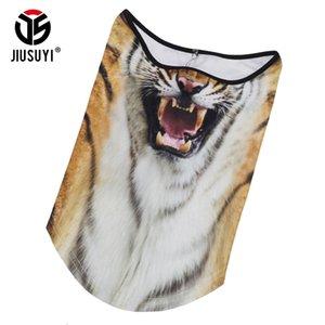 Foulard de tigre 3D Foulard de Tiger Gaiter Winter polaire polaire chaude moitié visage couverture chien chien loup cou de tube tube bandana foulards hommes femmes 201023