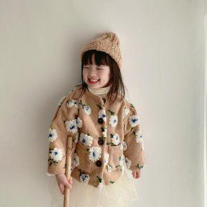 Kids Sweater Fake TUTU Skirt Pants Long Sleeve T-Shirts Girls Coat Flower Jacket Toddler Girl Winter Clothes Baby Infant Korea