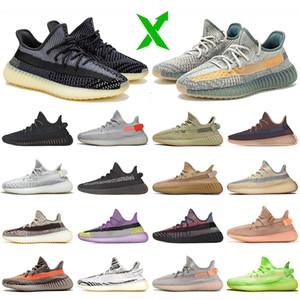 zapatos Yeezy 350 boost 350 v2 kanye west zapatillas para correr luz trasera azufre yecher asriel israfil abez eliada ceniza reflectante zapatillas de deporte para hombre