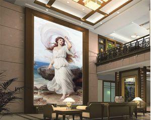 Custom Character 3d Wallpaper Beautiful Girl in White Dress Living Room Bedroom TV Background Wall Wallpaper