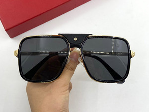 0263SA New popular sunglasses mens square glasses with metal frame and legs simple casual style glasses 100% UV400 protection Send box