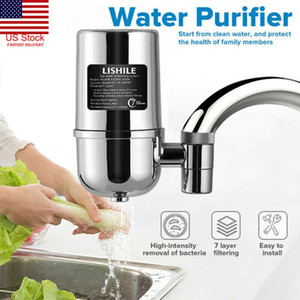 Kitchen Faucets 7 Layer Ceramic Faucet Filter Water Purifier Cleaner Activated Carbon For Household Home Tap