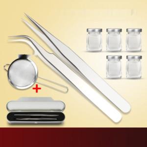 t0kmf Pinzette aus rostfreiem Stahl Nest Vogel Kommissionierung Vogelnest Werkzeug Werkzeuge Werkzeug 3-teiligen Artefakt Haarclip Waschfiltersatz Unter Abfüllung