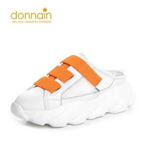 DONNAIN 2020 NUOVO FASHIONE Abbigliamento esterno Indossare Pantofole traspiranti Donne Aumenta le scarpe casual da donna