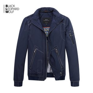BlackleopardWolf New Chegada Casaco de Primavera Homens Alta Qualidade Causal Parkas Curto Estilo Down Jacket MC-17065 201027