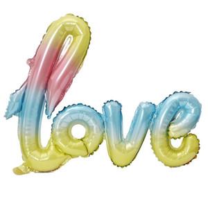 الألومنيوم فيلم احباط إلكتروني بالون خطابات الحب الملتصق عيد الحب يوم عيد ميلاد الزفاف البالونات الهواء الديكور متعدد الألوان 2hy L2