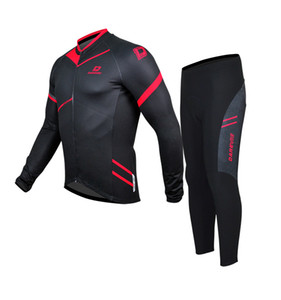 DAREVIE Winter Thermal Flee Cycling Jersey Set Long Sleeve Winter Jersey Cycling Pants Warm Biking Suits Cycling Clothing Suit C0128