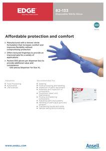Disposable Nitrile Glove Edge Brand PVC Latex Free PowderTextured Ambidextrous Nitrile Gloves Examination AQL4.0 EN455 EN374 EN420 PPE MDD