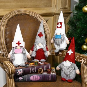 2020 Hot-Selling Christmas Decorations For Doctors And Nurses Christmas Faceless Doll Ornaments Christmas Dolls Designer New Xmas Decoration