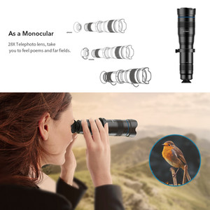 FreeShipping New 4K HD 50X Optical Zoom Phone Camera Lens Telephoto Lens Monocular Mobile Phone Lens Telescope for All Smartphones Lenses