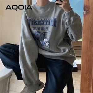 Aqoia Herbst Streetwear Lose Erddrucken Frauen Sweatshirt Harajuku Übergröße Dünnes Sweatshirt Ins Hoodies 201216
