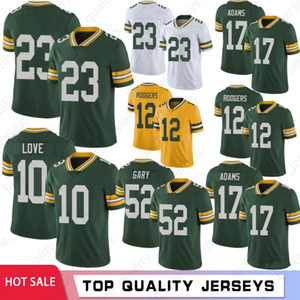 12 Aaron Rodgers 10 Love Hommes Football Jerseys 26 Darnell Savage Jr 52 Rashan Gary 17 Davante Adams 15 Starr Favre Aaron Jones 2021 Hot