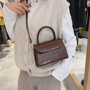 New crocodile Pattern Crossbody bags For Women ladies Vintage Alligator small square shoulder bag handbag Bolsa Feminina H25