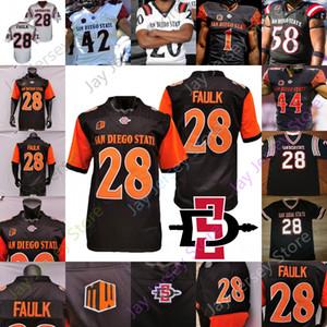Custom 2020 San Diego State Aztecs Football Jersey NCAA College Marshall Faulk Ryan Agnew Smith Jesse Matthews Cameron Thomas Myles Chidum