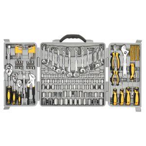 WACO Möbelwerkzeuge Set Kit, Mechanics Tool Kit, Professional Socket Set mit Schwerlasttasche, Multifunktionswerkzeuge (graue Farbe 205pcs)