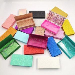 거짓 속눈썹 도매 밍크 속눈썹 상자 10/20 조각 믹스 트레이가있는 최고 품질의 직사각형 메이크업 포장 개인 라벨 2021 판매