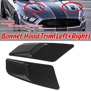 GT Style Car Front Hood Air Intake Trim Scoop Vent Guards Heat Hoods Cover Trim Panel for Mustang 2020 2020
