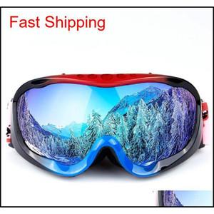 New Full Frame Ski Goggles Double Anti-Fog Large Spherical Adult Men Women Ski Glasses Equipped With Myopia Spge0