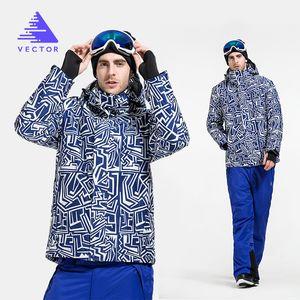 Ski Suit Men's Single and Double Board Outdoor Snow Suit Wear-Resistant Warm Winter Snowboarding Set 201203