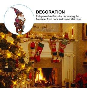 مع صوت LED زخرفة عيد الميلاد أفخم بابا نويل الشكل ضوء لعب Snoflake مصباح 2020 2021 عيد الميلاد الديكور حزب هدايا F110702