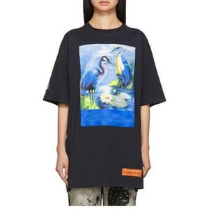 2020 Männer Tees-T-Shirts der Qualitäts beste TopTees beiläufige Art und Weise Baumwolle Männer Frauen Druck Schwarz-Weiß T-Shirt