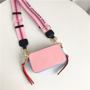 New women luxury designer bag handbags Letter Wide Shoulder Strap Double Zipper Mini Square Handbag Designer Luxury Crossbody Bags crossbody