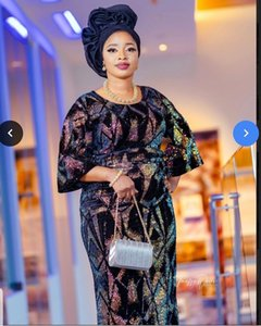 Fabrik Großhandel Neueste Nigerian-Spitze-Stickerei African Velvet Mesh-Sequence-Spitze-Gewebe-Qualität für Brautkleid Win651