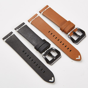 Genuine Leather Watchbands 18 20 21 22 24 mm Watch Steel Pin buckle Band Strap High Quality Wrist Belt Bracelet