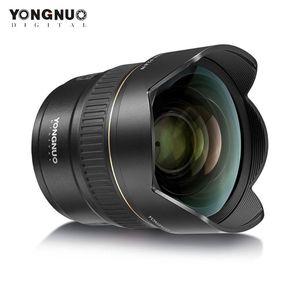 YONGNUO YN14mm F2.8N Ультра-широкий угол Prime Lens Авто / Ручная фокусировка 114 ° по диагонали Угол для D5600 D5500 DSLR камеры