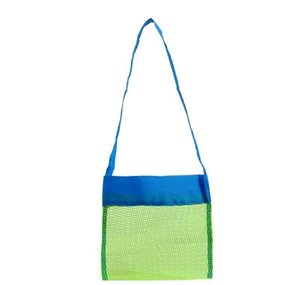 Wholesale- Applied Enduring Children Sand Away Beach Mesh Bag Children Beach Toys Clothes Towel Bag Baby Toy Collection Nappy Folding bbyIC