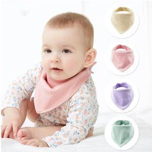 Baby Bibs Newborn Bandana 7 Colors Soft Cute Cotton Feeding Burp Cloth Solid Triangle Saliva Towel YHM729