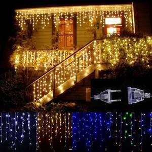 Solar Power 96LED Fairy Curtain Light String Super Bright Yard Christmas Outdoor Durable US Regulations Garden Festival