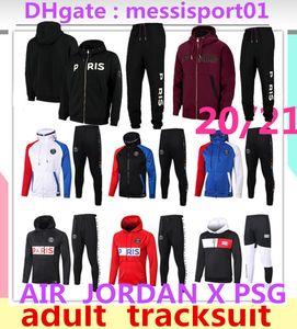 2021 파리 자켓 까마귀 Survetement 21분의 2,020 파리 MBAPPE 축구 재킷 20/21 공기 jordam 축구 운동복 2020