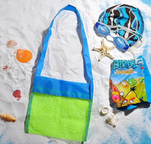 Wholesale- Applied Enduring Children Sand Away Beach Mesh Bag Children Beach Toys Clothes Towel Bag Baby Toy Collectio jllBHD eatout
