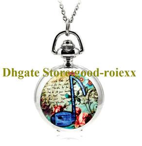 Cheap Enamel Women's Pocket Watch Necklace Accessories Sweater Chain Ladies Hanging Watches Mens Quartz AA00126