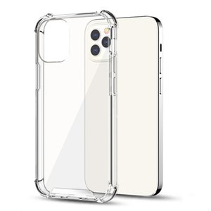 For iPhone 12 11 pro 7 8 6 6S plus Transparent hard TPU+PC Case back cover case