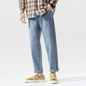 Hombres Vintage Pantalones rectos para hombre Coreano Fashoin Harem Jeans Pantalones Hombre Harajuku Jeans Baggy Denim Pantalones