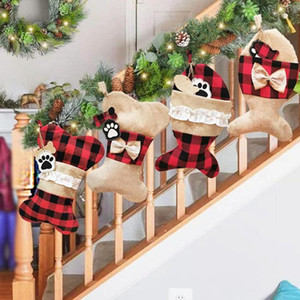 Christmas pet socks Christmas decorations Christmas socks gift bags holiday supplies 2020 new free shipping hot sale